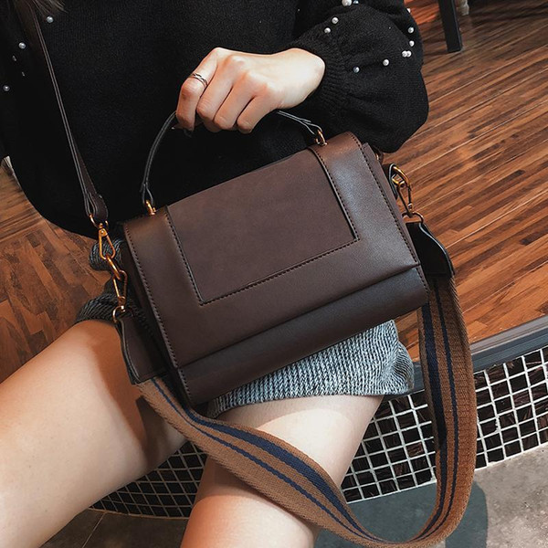 Nice Retro Fashion New Women Handbags High-quality PU Leather Womens Designer Handbag Lady Scrub Tote Bag Portable Shoulder Bag