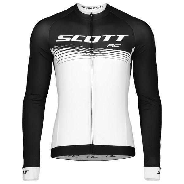 2019 Скотт Зимний Термальный Флис Велосипед с Длинным Рукавом Велоспорт Джерси Мужская Одежда Pro Team Открытый Велосипед Одежда