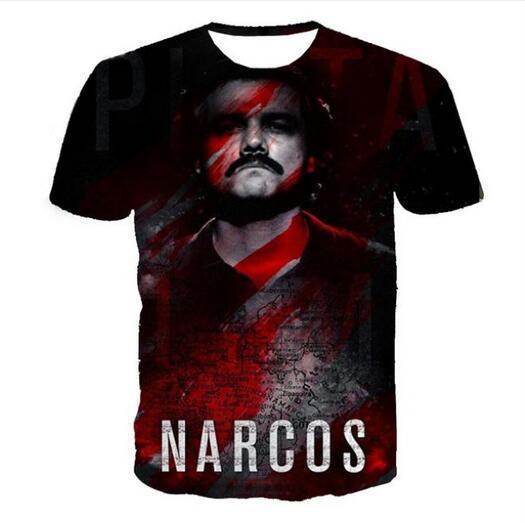 Новая мода мужская/женская летний стиль Нарки Пабло Эскобар тройники унисекс 3d печати повседневная футболка топы RW00226