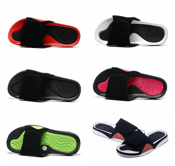 top popular With box 4 slippers sandals Hydro IV 4s Slides black Free shipping men basketball shoes casual Slippers outdoor sneakers size 5.5-13 2019
