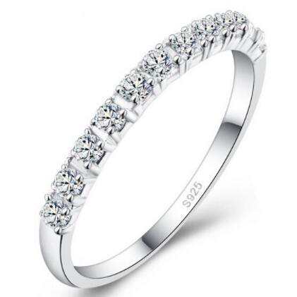 Anelli di nozze in argento 925 Anelli in argento sterling per donne Viola rosso diamante simulato Anello di fidanzamento Stella Gioielli Ulove