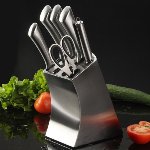 2019 Stainless Steel Knife Holder Creative Knife Block Kitchen Knives  Storage Rack Inserted Knife Organizer From Binfengchen, $31.16 | DHgate.Com