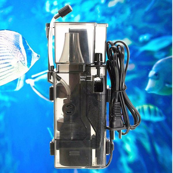 Acquario Pompa Skimmer Marine Per rimuovere superficie dell'olio Film Protein Skimmer con filtro Pompa Fish Tank Filtro acqua di mare separatore di proteine corallo