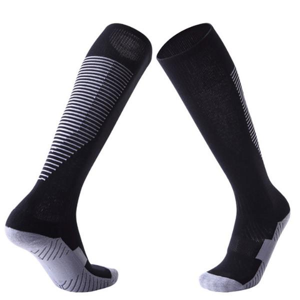 Largos adultos Calcetines de fútbol Calcetines de fútbol de cañón Anti Slip Hombres Calcetines Para Correr Ciclismo Gimnasio Sendero envío de DHL