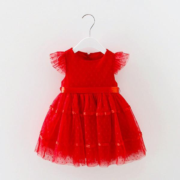 Sleeveless Summer Cute Girl Lace Dress Kids Wedding Princess Party Dress Infantil New Children Baby Bubble Toddler