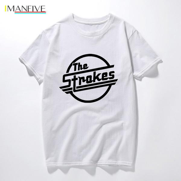 Los trazos Camisetas Hombre Indie rock camisetas de manga corta Vestimenta camisetas del hombre de la roca verano REMATA LA TE