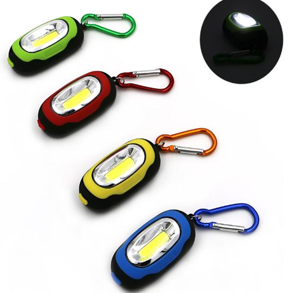 Novo para portátil keychain modo lanterna luzes LED lanterna luzes multicolor lanterna com baterias de botão Fácil de usar