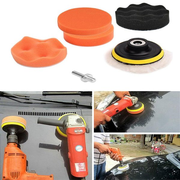 Set Kit Car Beauty 6 Pcs//set Car Polish Buffer Pad Drill Adapter Polishing