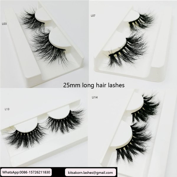 74975626256 25mm lashes real mink private label eyelashes long hair 3d eye lash fluffy  custom