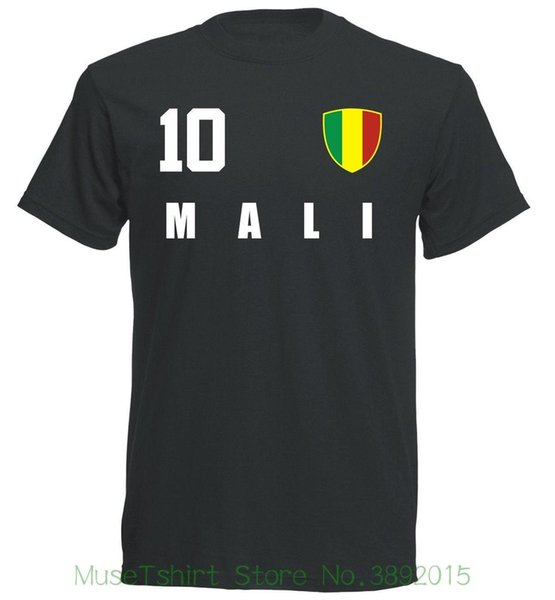 Mali Wm 2018 T-shirt Schwarz Trikot Style Fu? Ball Nummer All 10 Sportsy Newest 2018 Men T-shirt Fashion
