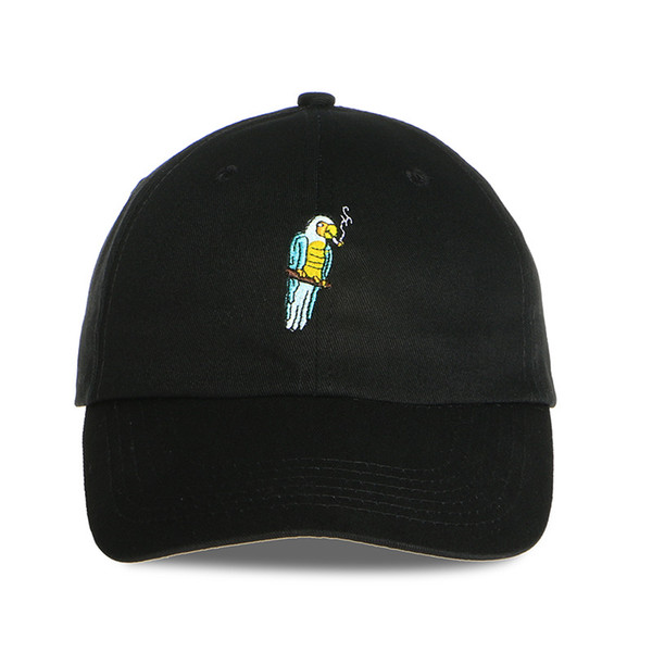 High Quality Pure Cotton Worth Parrot Embroidery Recycle Female Cotton Hat Men Golf Hip Hop Daddy Baseball Cap Gorola Chapeu Bon