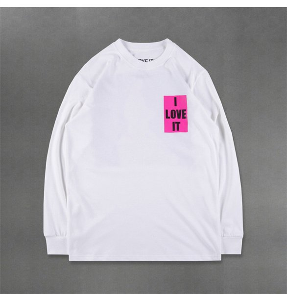 Kanye Mens Summer Short Shirts Moda girocollo manica lunga popolare giovani Style Homme Tees
