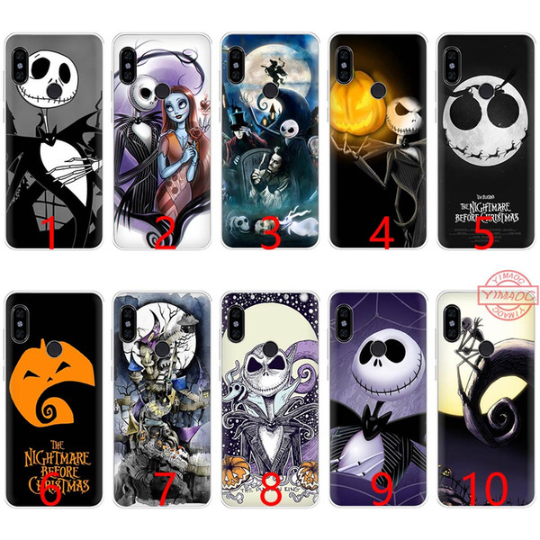 Nightmare Before Christmas Phone Case.Nightmare Before Christmas Sally Jack Soft Silicone Tpu Phone Case For Redmi Note 4 4x 5 6 Pro 6a S2 Cover Rhinestone Cell Phone Cases Silicone Cell