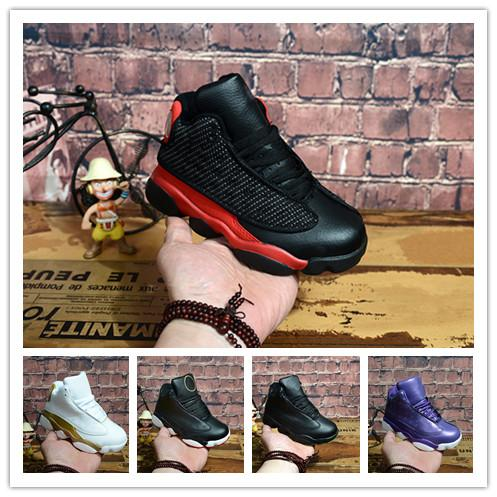 Online Sale New 13 Kids basketball shoes for Boys Girls sneakers Children Babys 13s running Fitting children's shoes Size 28-35