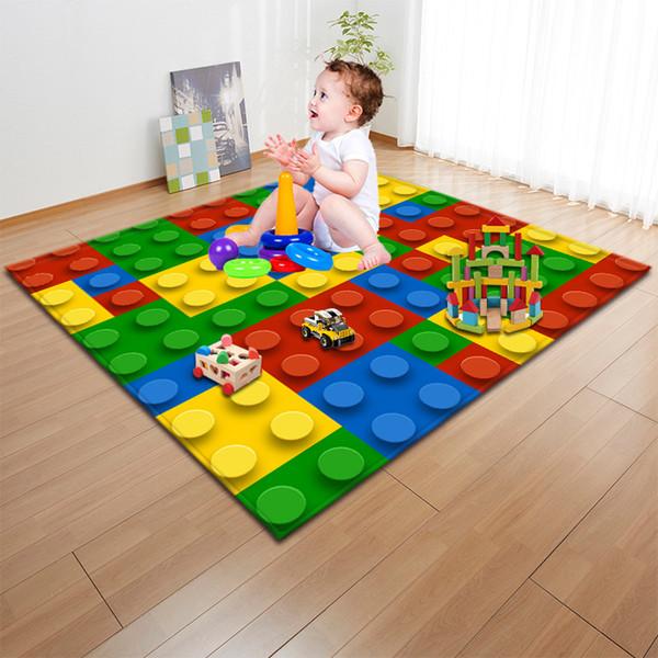Impresión creativa de dibujos animados Baby Play Mat Toys Alfombra Niños Niños Alfombra Playmat Manta para sala de estar Dormitorio Home Decroation Regalos