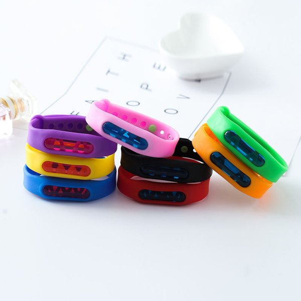 8styles Mosquito Repellent wristbands slicone bracelets Wrist Strap Natural Plant Essential Oil wristband promotion gift party favor FFA1853