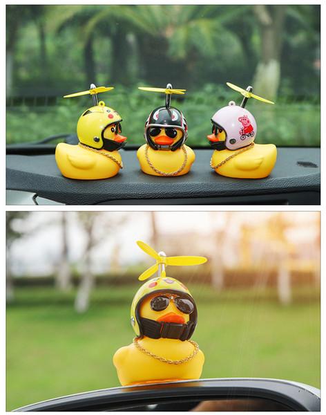 Moda serin bisiklet dağ bisikleti motosiklet elektrikli otomobil çan dekorasyon küçük sarı ördek kask bambu yusufçuk boynuz Parlayan ördek yavrusu