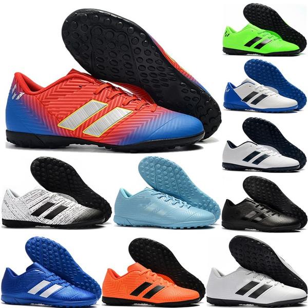 Recién llegado para hombre Nemeziz Messi Tango 18.4 TF Zapatos de fútbol Zapatillas de fútbol de interior Botas de entrenamiento Zapatillas deportivas