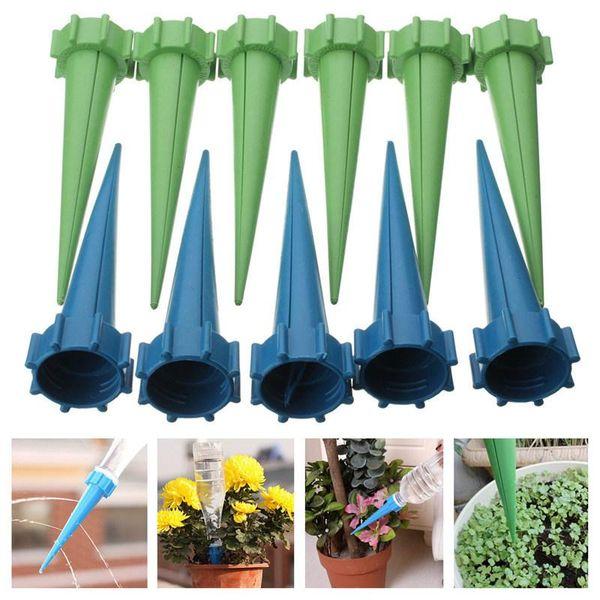 Flor de la planta nueva de la llegada de fin de 4x de riego automático de riego por goteo de Spike Jardín de rociadores de agua