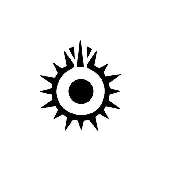 Black Sun Decalque de Vinil Etiqueta Do Carro Checkered Flags Windshield Etiqueta Janela Bumper
