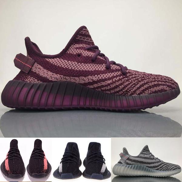 Großhandel 2019 Designer Shoes Adidas Yeezy Boost Kanye West V2 Laufschuhe Sport Sneakers Schuh Sesame Butter True Form Cream White Clay Bred