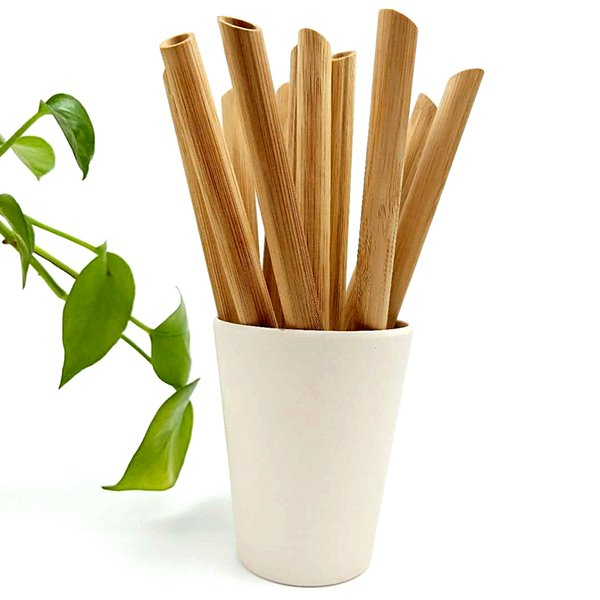 высокого качество заказного логотип органического натуральный широкий типа ФД 100% биоразлагаемые бамбуковые трубочки для коктейля