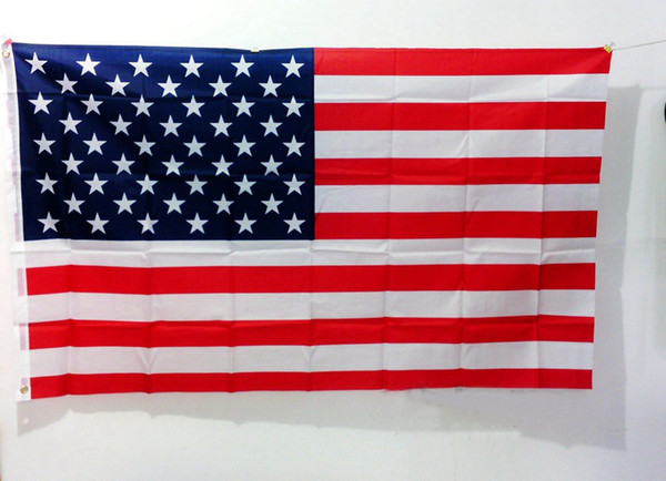 top popular 2 Style 3x5Fts 90cmx150cm American Flags US Thin Blue Line Flag Stars Polyester Flag United States the Stars and the Stripes baby Decor M883 2021
