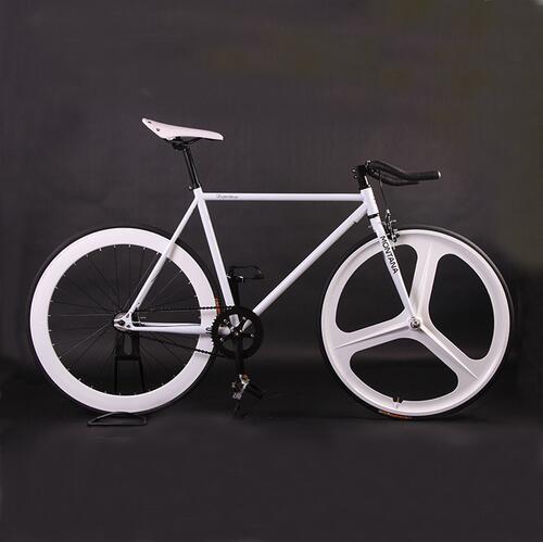 Fixed gear bike magnesium alloy wheel 3 spokes 70mm fixie Bicycle700C edge 52cm full frame bicycle road bike