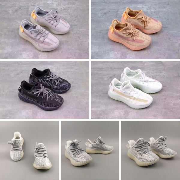 STATIC Infant v2 Kids Runs Hyper space Clay Toddlers Running Shoes Plyknit Sneakers Children boy girl top quality Trainers