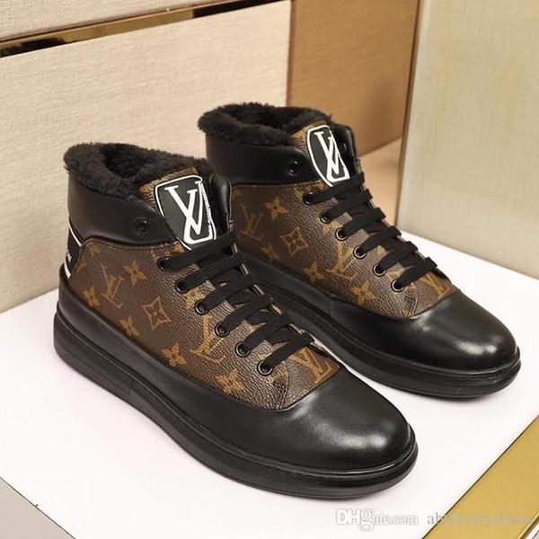 Herrenschuhe Sneakers 2018 Fashion Plus Velvet Warm Footwears Sportschuhe für Herren Winterschuhe mit L0UIS Brand Box France Trend