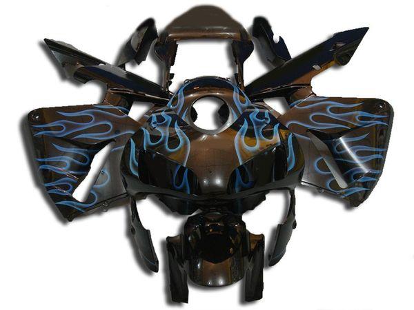 Novas Kits de Carimbos de motocicleta de Modelagem Por Injeção ABS 100% Apto Para Honda CBR600RR F5 03 04 2003 2004 carenagem conjunto de carroçaria legal Chama Azul