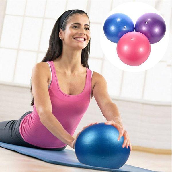 Mini Yoga Pilates Ball PVC a prueba de explosiones Fitball para estabilidad Ejercicio Entrenamiento Gimnasio Anti Burst Bola antideslizante + Paja 25CM