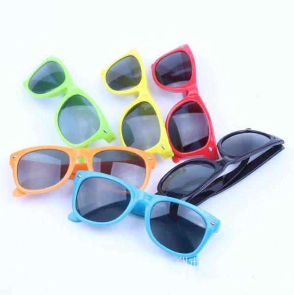 Fashion Kids Sunglasses rivet children sunglasses children anti-uv sun glasses fashion kids summer eyewear multicolors 261 60pcs