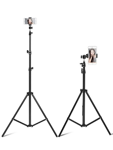 Web Celebrity Anchor Takes Photos With Make-up Lights To Take Photos Of Outdoor Multi-function Portable Triangular Mobile Phone Rack