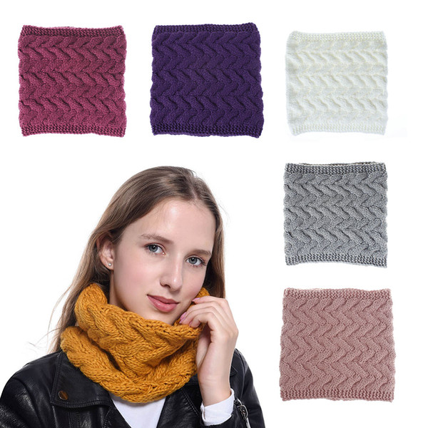 top popular C Winter Scarf 100-135CM Circle Loop Scarf Women Wrap Scarves 8 Colors Warmer Neck Scarf M773 2021