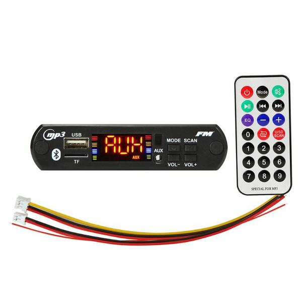 5V 12V MP3 WMA Decoder Board Car Audio FM-радио модуль Автомобильный Aux Беспроводная связь Bluetooth USB TF Card Электроника Пульт дистанционного управления