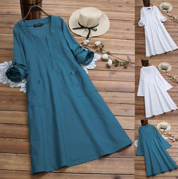 M-5XL women dress summer 2019casual lady loose skirt cotton and linen skirt