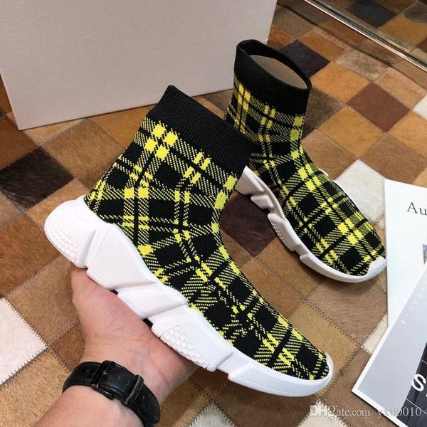 Top Designer fashion Shoes for women men Speed Trainer Black Red Triple Black Flat Fashion Socks Boots mens Sneaker Speed Trai fz18072623