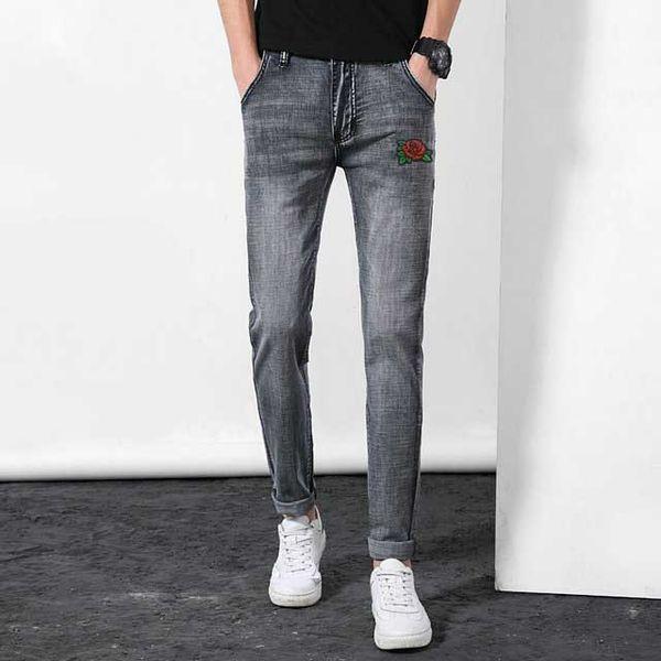 Moda GIORGIOS kot erkek tasarımcı pantolon gelgit marka pantolon Resmi web sitesi kaliteli kot Butik Yıkanmış erkekler sokak klasik Sürme pantolon