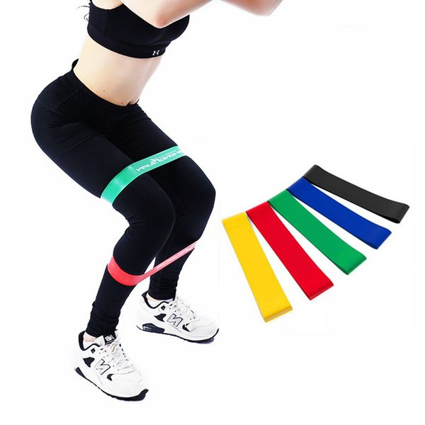 2019 Natural Latex Workout Assist Band Exercise Resistance Bands for Workout Body Stretch Powerlifting Strength Training Band M458A