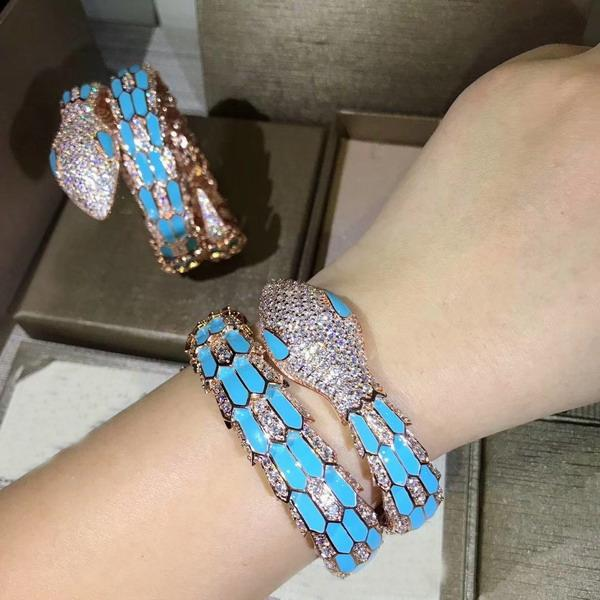 blue and rose gold