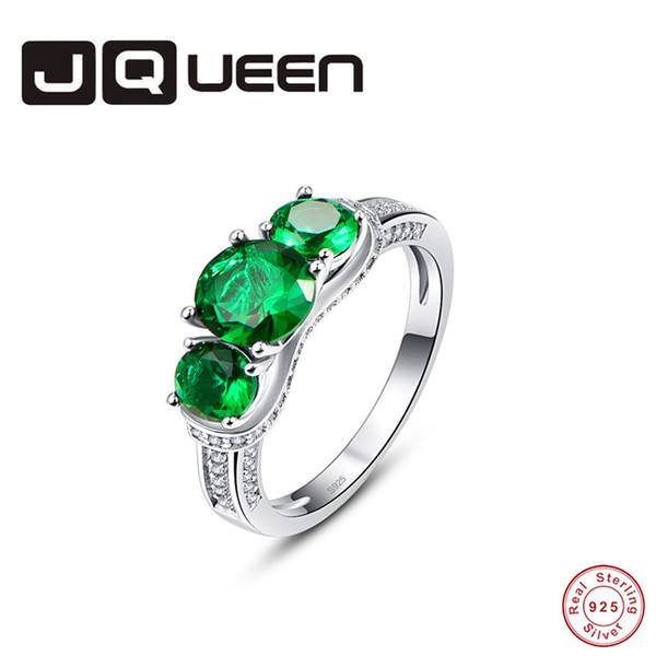 Vendita all'ingrosso di San Valentino 925 Sterling Silver Fashion Green Stone Solid Sterling Silver Ring per le donne gioielli