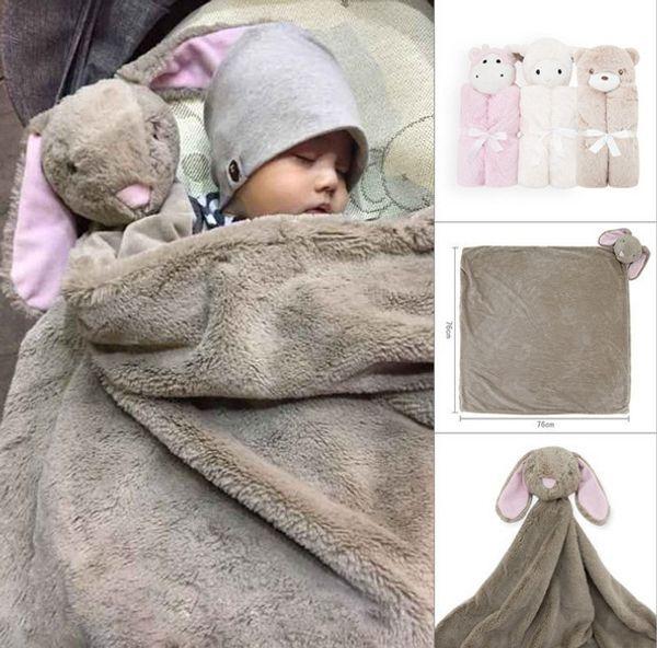 Baby blanket Swaddles Swaddling Velvet Animal toy warm Fall winter Elephant Ins Wraps Blankets Comfort Bedding Newborn Quality 76*76cm