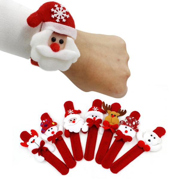 Clap Ring Decorazioni di Natale Natale Patting Circle Natale Bambini regalo Babbo Natale pupazzo di neve cervi capodanno giocattoli di Capodanno