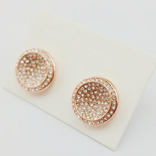 top popular New York Stylist Earrings Pave Diamonds Round Ear Stud Women Fully Jewelled Earrings Cheap Famous M Jewelries 2020