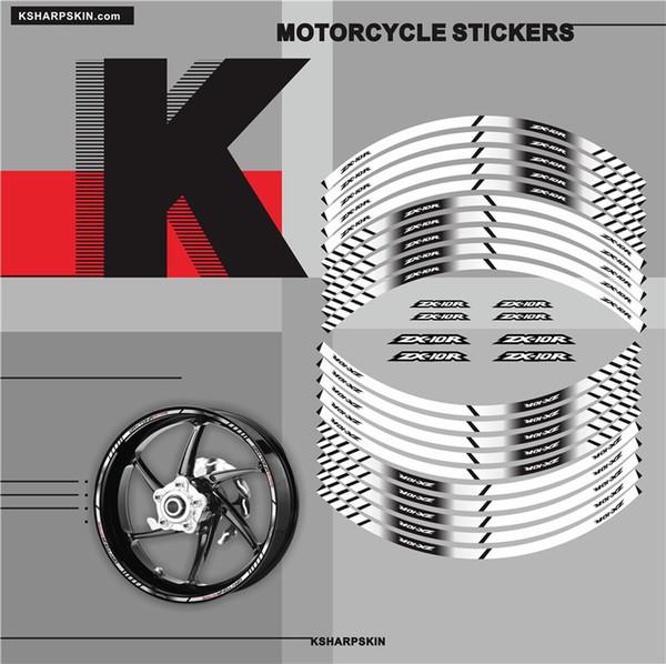 Neue verkauf Motorrad innenrad zx10r Aufkleber felge reflektierende dekoration aufkleber Fit KAWASAKI ZX-10R Kreative applikation felgendekoration