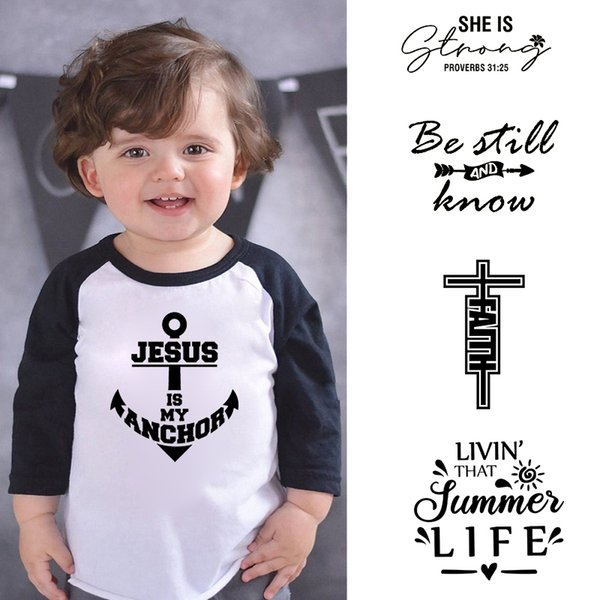 lytlm jesus is my anchor tshirt kids faith cross t shirt boys kid clothes roupa de menina boy tshirts fall boys long sleeve
