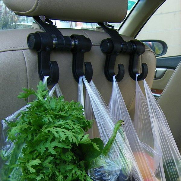 Têtière Siège d'auto automatique universel Porte-sac Porte-crochet pour sac sac en tissu d'épicerie de stockage automatique Fastener Clip de suspension Organisateur