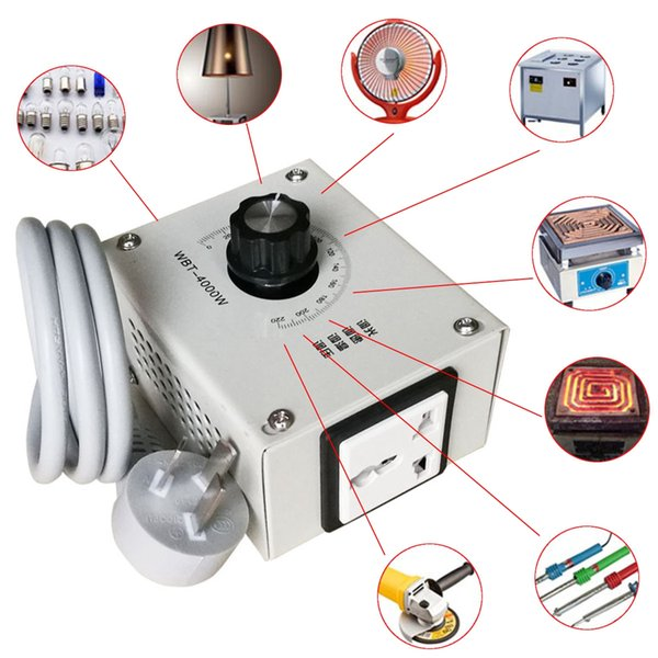 High quality NEW 4000W AC 220V Variable Voltage Controller Control For Fan Speed Motor Dimmer