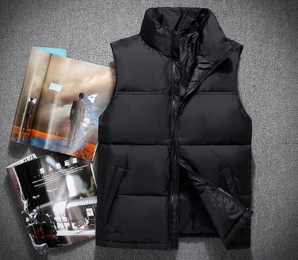 2017 зима Классического Марка Мужчина носит Густой зимние Открытый Heavy пальто вниз жилет мужских курток Одежды 60